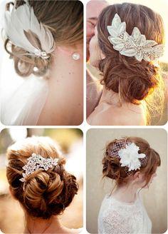 tocados joya, brocados y con plumas para dar un toque muy elegante a la novia