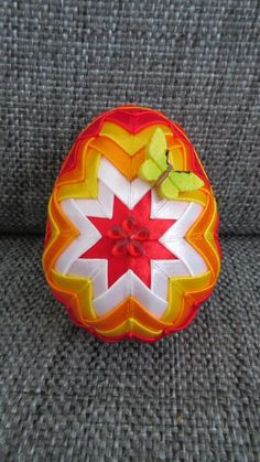 Quilted ornament/Falosny patchwork/Patchwork without needle/Easter