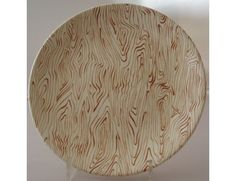 Driftwood tea plate by Crown Lynn www.vintagetreasure.co.nz