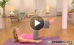 10-Minute Basic Pilates Workout: This is a great way for beginners to tone their abs and core! | via @SparkPeople #fitness #exercise #video