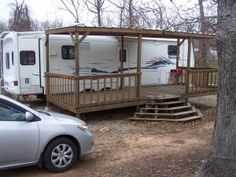 If I had an RV I would want to have a porch too!