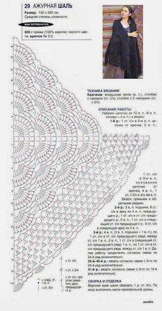 Gráfico de Xale em crochê Xale em crochê {Imagem pinterest}