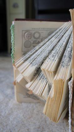 Libro Alterado. (Diccionario Vox. 1964). Collage y Crochet. Octubre 2013. Regalo para el 50 cumpleaños de Jose Ignacio. Amalia Cabeza.