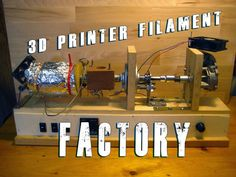 Build your own printer filament factory (Filament Extruder) - have shop class build it for us? Maybe something for Printer Chat? 3d Printing Business, 3d Printing Diy, 3d Printing Service, 3d Filament, 3d Printer Filament, 3d Printer Designs, 3d Printer Projects, Types Of 3d Printers, Prusa I3
