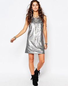 Native Rose | Native Rose Festival Sequin Dress With Shell Details