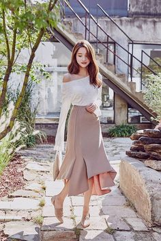 This is simple an ethereal ensemble, Korean fashion at the maximum / follow my Pinterest at Saraiexquisite