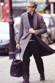 Peter Capaldi out in London- December 22nd.....aw bless his heart, he's such a dear!!
