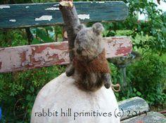 Pumpkin Mouse House #346~ rabbit hill primitives (c)