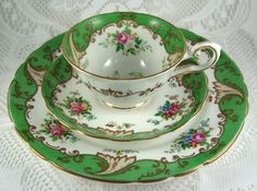 Vintage Cup And Saucer With Plate Blenheim by AntiquesAndTeacups, $48.00