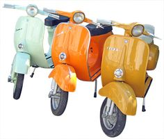 Vespa scooters -