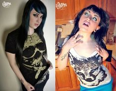1AEON 2 shirt combo  black burnout skull tee and white by 1AEON