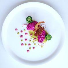 Salmon rillette/beetroot/horseradish#art #chef #food #foodie #foodart #foodporn #foodgasm #vscofood #vegetarian #love #beautiful #chefstalk #thestaffcanteen #chefsofinstagram #theartofplating #finedining #gourmet @tastefullyartistic @foodstarz_official @gourmetartistry @four_magazine @exhibitcny by petepirate1