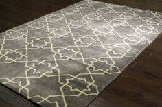 Rugs USA Keno Trellis ACR195 Charcoal Rug | Contemporary Rugs Modern, home decor, interior design, style, subdued, grey, soft, color, interior design, decor, create, pattern.