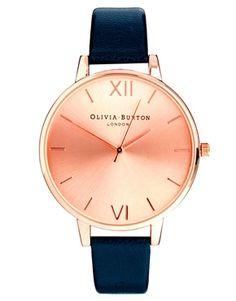 Olivia – Burton – Armbanduhr in Marineblau mit großem Zifferblatt in Roségold                                                                                                                                                                                 Mehr