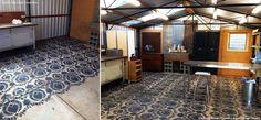 Decorate your garage floor with concrete floor stencils - Royal Design Studio