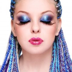 Love these blue braids!