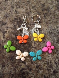 Butterfly keychain or bag charm