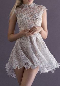 Sensational little lace dress by Paolo Sebastian.