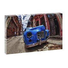 Kuba - Havana | Panoramabild im XXL Format | Trendiger Kunstdruck auf Leinwand | Verschiedene Farben (Farbig) Querfarben http://www.amazon.de/dp/B00PK5H19S/ref=cm_sw_r_pi_dp_tCHBub01PZ4GP