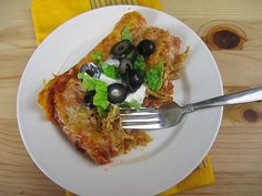 Skinny Chicken Enchiladas - Eat. Drink. Love. Next time- add a chicken breast and black beans