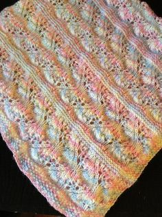 Free Pattern: Lacy Japanese Feather Baby Blanket by Sarah Louttit