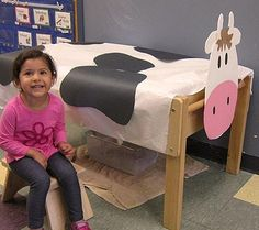 The preschool class at Bright Horizons at Village Place in Glastonbury, CT learned about farm life in this learning activity. See the kids milking a cow!