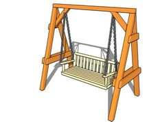 Detailed woodworking project about porch swing plans free. Building a porch swing is a fun and quick project that can be done in just a weekend. Garden Swing Seat, Bench Swing, Garden Swings, Porch Swings, Swing Set Plans, A Frame Swing, Building A Porch, Thing 1, Garden In The Woods