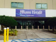 Front of the Miami Herald building. You will soon see a medical supply warehouse building in the foreground, making it more difficult to see from the road.