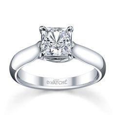 Royal X prong Princess Cut Solitaire Engagement Ring