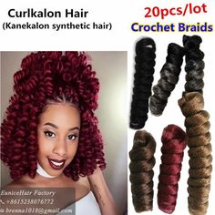 Cheap ombre crochet, Buy Quality ombre crochet braids directly from China synthetic braids Suppliers: New 20inch kenzie curls synthetic braiding curlkalon braids small curls african ombre crochet braids bulk hair United States