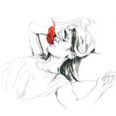 """Esto es """"La Sed"""". Dibujo en proceso. Muy pronto.  #nuevolibro #paulabonet by paulabonet"""