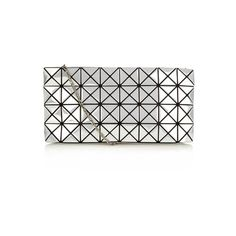 Bao Bao Issey Miyake Prism Platinum cross-body bag (3.975 BRL) ❤ liked on Polyvore featuring bags, handbags, shoulder bags, white, crossbody purse, white crossbody handbags, metallic crossbody, chain handle handbags and metallic shoulder bag