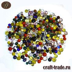 Стеклянные кабошоны микс из витражного стекла - материалы для творчества в интернет магазине Рукоделец