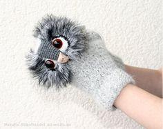 Schöne, warme Handschuhe Uhu - XS bis XL - Häkelanleitung https://www.crazypatterns.net/de/items/3897/pdf-haekelanleitung-handschuhe-uhu-xs-bis-xl-11-bis-99-j