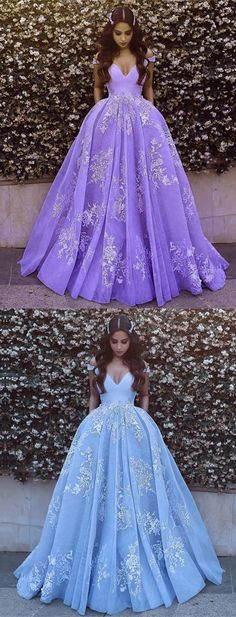 Off Shoulder Tulle Princess Style Prom Dress 2018 Lace Appliques Evening Gowns