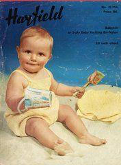 Hayfield 354 baby sun suit ORIGINAL vintage knitting pattern