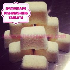 dishwashing tablets--more complicated than my recipe, but will see if it works better with our hard water.