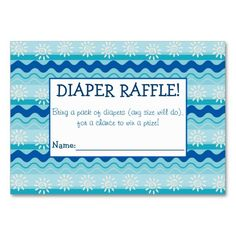 Surf 'N Sun Diaper Raffle Tickets Large Business Cards (Pack Of Baby Sprinkle Games, Baby Sprinkle Invitations, Custom Baby Shower Invitations, Free Diapers, Pack Of Diapers, Sprinkle Shower, Diaper Raffle Tickets, Baby Shower Fun, Business Cards