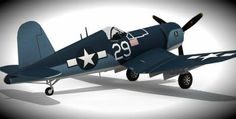 Chance Vought F4U Corsair Aircraft Paper Model - by Paper Replika