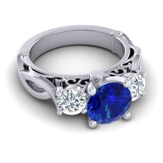 TIERED RING...blue sapphires with diamonds, is there a better combo?