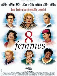 8 femmes (2001, François Ozon) starring Catherine Deneuve, Fanny Ardant, Emmanuelle Béart, Ludivine Sagnier, Virginie Ledoyen