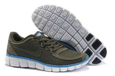 Nike Free 5.0 V4 Mens Running Shoe Army Green Photo Blue