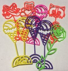Vintage Lisa Frank Party Favor Lot Of 9 Bubble Wands | Collectibles, Paper, Stationery | eBay!