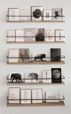 Metal and wood card display