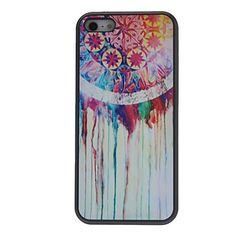 Sogno Progettato pittura ad olio e del modello del cerchio Custodia rigida con Matte Back Cover per iPhone 5/5S – EUR € 3.67
