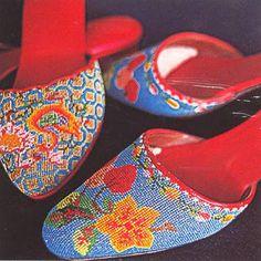 Peranakan beaded slippers