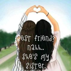She is my sister 👭 - Bff Pictures - Cute Best Friend Drawings, Best Friend Sketches, Friends Sketch, Girly Drawings, Drawings Of Friends, Besties Quotes, Best Friend Quotes, Bff Pictures, Best Friend Pictures