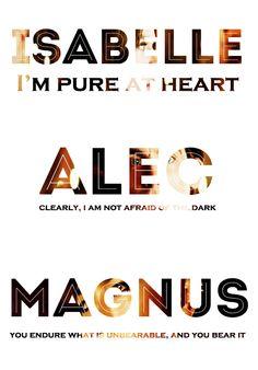 Isabelle Alec Magnus the mortal instruments character