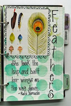 Doc Life week 38 challenge: put a feather on the page. #documented life