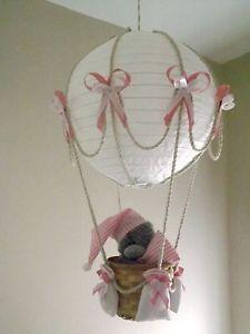 Hot Air Balloon Lamp/light shade with Tatty Teddy. Pink /Girl 0 Inspiration only Baby Bedroom, Baby Room Decor, Air Balloon, Balloons, Nursery Chandelier, Teddy Bear Nursery, Diaper Crafts, Creative Party Ideas, Tatty Teddy